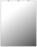 """Toppay Wall-Mounted Activity Mirror with Flat Polished Edge, 48"""" x 32"""""""