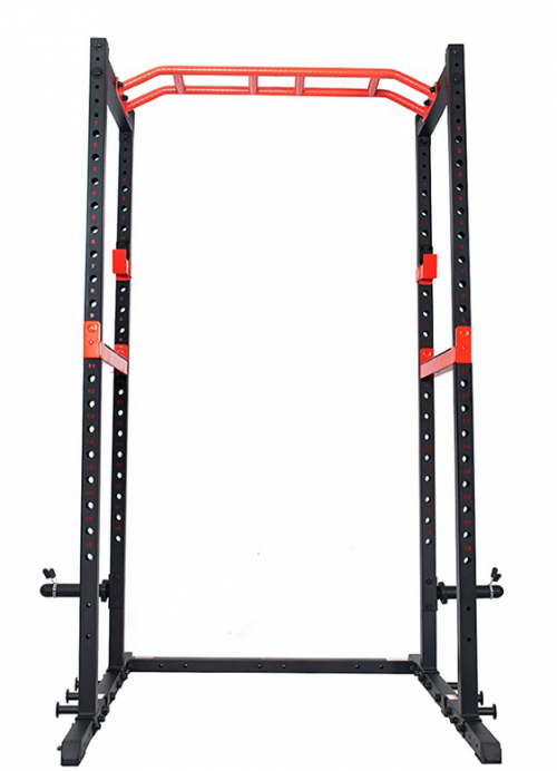 Sunny Health & Fitness Power Zone Strength Rack Power Cage with LAT Pull Down Attachment 2