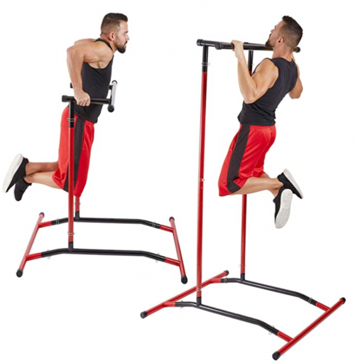 GoBeast Pull Up Bar Free Standing Dip Station