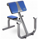 Pure Fitness Adjustable Preacher Curl Weight Bench