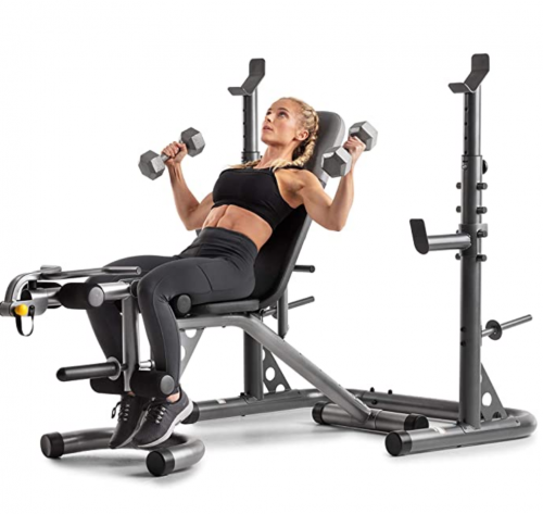 Gold's Gym XRS 20 Olympic Workout Bench and Squat Rack