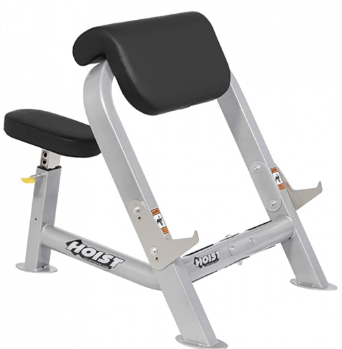 HOIST FITNESS HF-4550 Seated Preacher Curl Bench for Dumbbell or EZ Bar Bicep Curls
