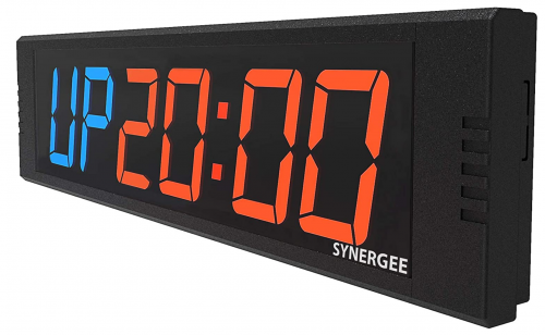 """Synergee 8.5"""" Premium LED Programmable Crossfit Interval Wall Timer Gym Timer with Wireless Remote"""