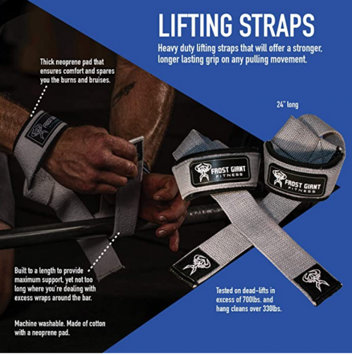 Frost Giant Fitness Lifting Wrist Straps
