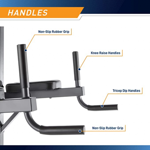 Marcy Power Tower Multi-Grip Pull Up & Dip Station VKR Home Gym