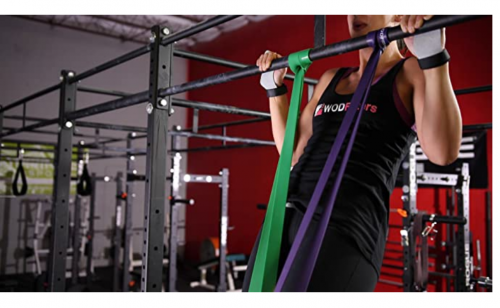 WODFitters Stretch Resistance Pull Up Assist Band with eGuide