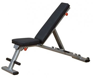 The Body Solid GFID225 adjusts to several incline and decline angles.