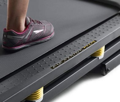 The Golds Gym 720 Trainer has a cushioned run deck.
