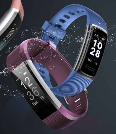 The Letscom Fitness Tracker Watch is swimproof and dust resistant.