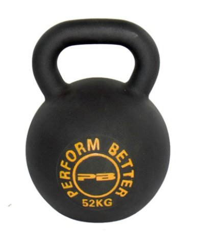 The Perform Better First Place Kettlebell is a single piece of iron.