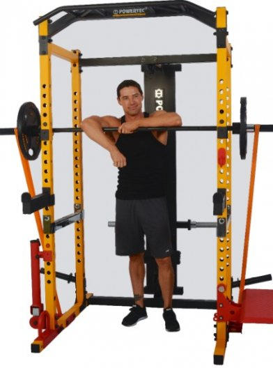 The Powertec Workbench power bench comes in black or yellow.