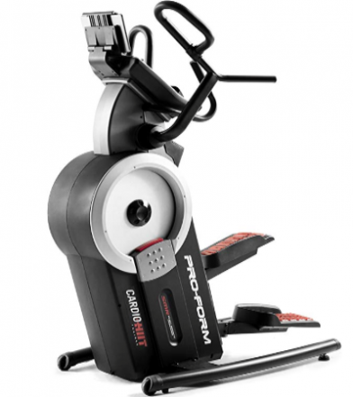 The ProForm Cardio HIIT trainer uses adjustable safety feet.
