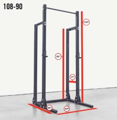 The Rogue HR-2 half rack is a standalone or conversion unit.