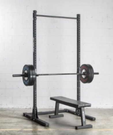 The Rogue S-2 squat stand has several different configurations.