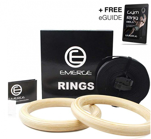 Emerge Wooden Olympic Gymnastics Rings