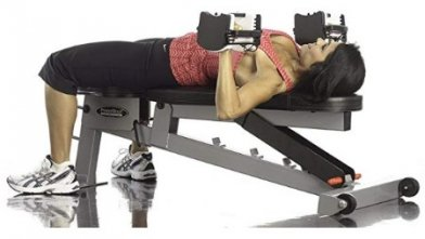 You can use the Powerblock SportBench with any dumbbell or barbell.