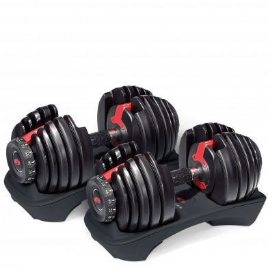 The Bowflex SelecTech %%2 dumbbells are easy to use.