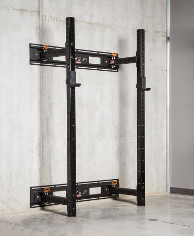 The Rogue Lite RMC-3WC Power Rack is a fold-back rack that is the ideal solution for the space challenged iron pumper. Whereas many foldable racks that are out there inevitably compromise on strength, you don't have any of those issues with the Rogue foldable. This rack can be folded both inwards and outwards for more space savings. Yet it still provides all of the sturdiness that you've come to expect from the Rogue Monster Lite series.  In this article we take a close look at the Rogue Lite RMC-3WC Power Rack.