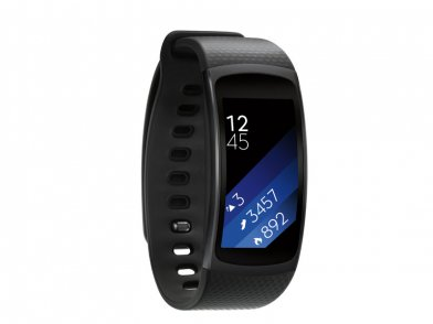 The Samsung Gear Fit 2 fitness watch comes in four colors.