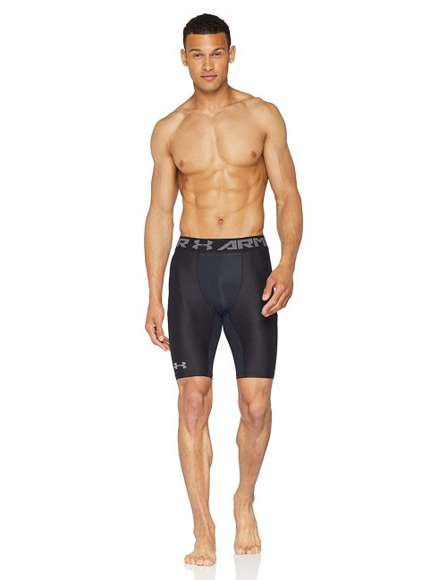 image of Under Armor Heat Gear Long Compression Shorts